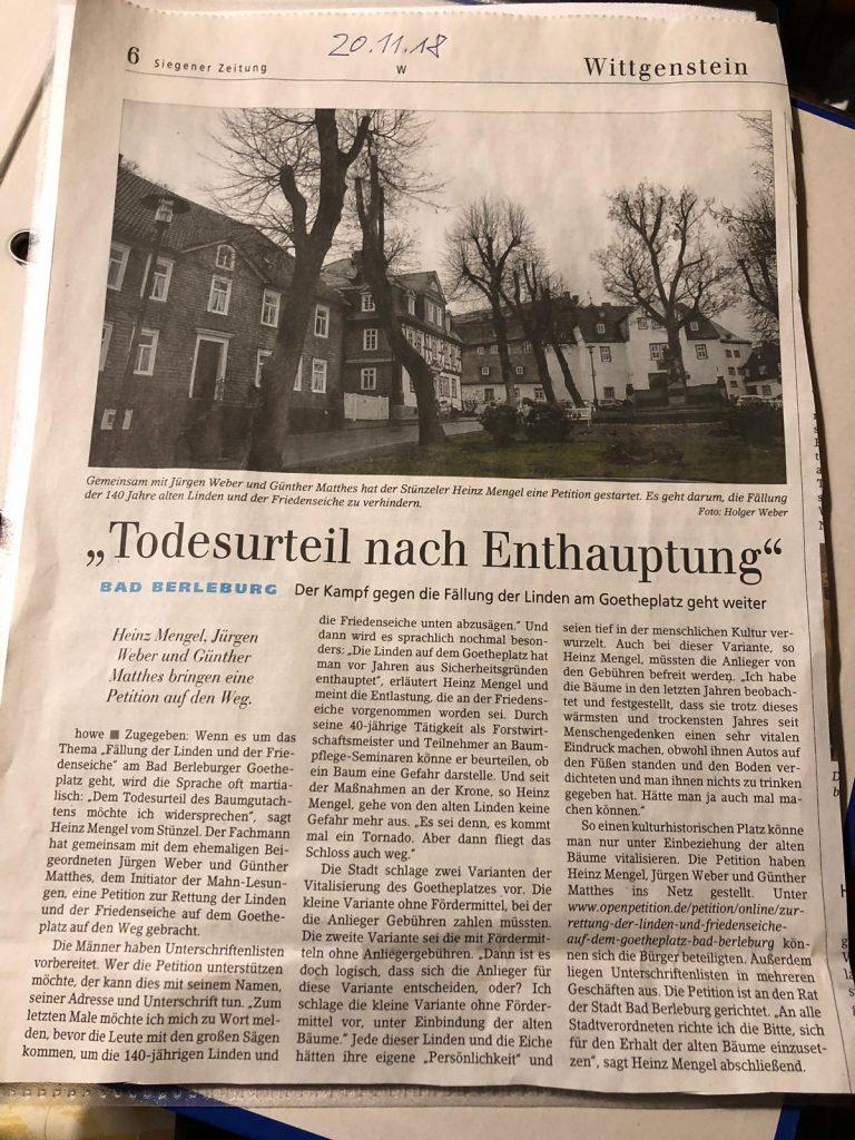 Goethe Platz Zeitung